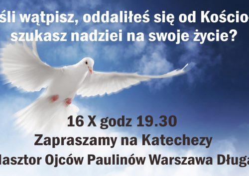 Zaproszenie na katechezy