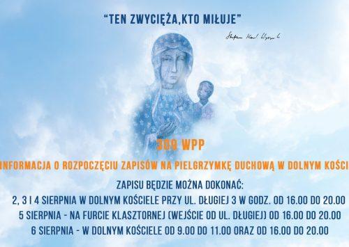 Informacja o rozpoczęciu zapisów na pielgrzymkę duchową w dolnym kościele